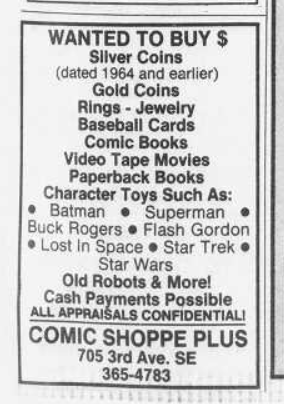 *Ad excerpted from The (Cedar Rapids) Gazette, pg. E15, Wed., 08/31/1988*